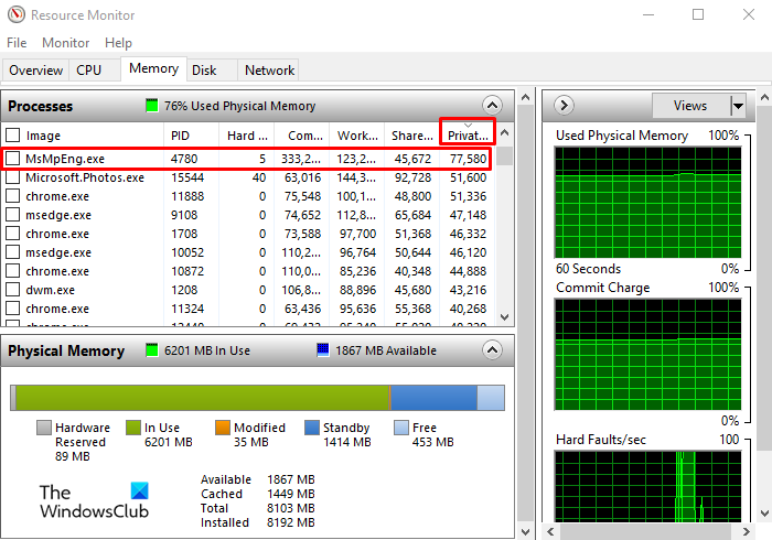 How to check how much RAM an app is using