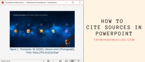 How to cite sources in powerpoint