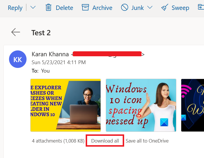 Outlook WebApp cannot download attachments