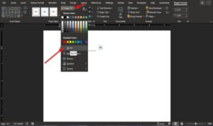How to type Text over a Line in Word without moving it