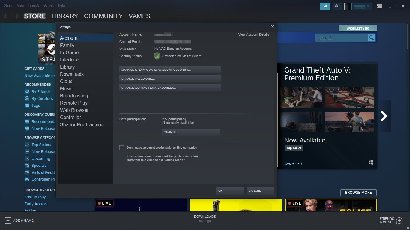 share Steam Games Library and play together