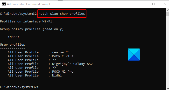 Stop Windows 10 From Connecting Automatically to a Wi-Fi Network using Command Prompt