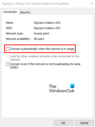 Stop Windows 10 From automatically Connecting to a Wi-Fi Network