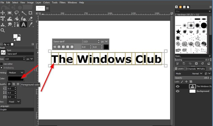 How to add Neon Glow to Text in GIMP