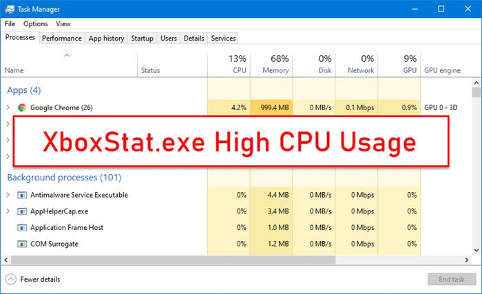XboxStat.exe High CPU Usage