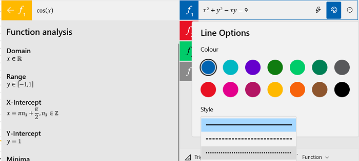How to use the Graphing Calculator in Windows 10
