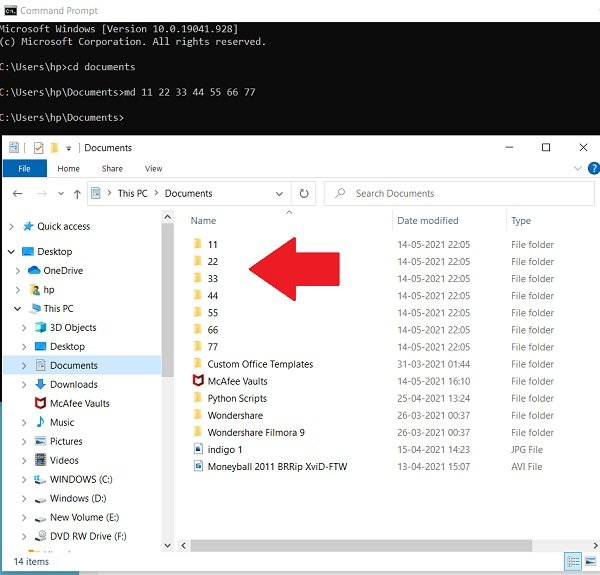 Create Multiple Folders using Command Prompt and PowerShell