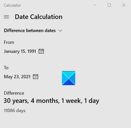 Date Calculation Difference