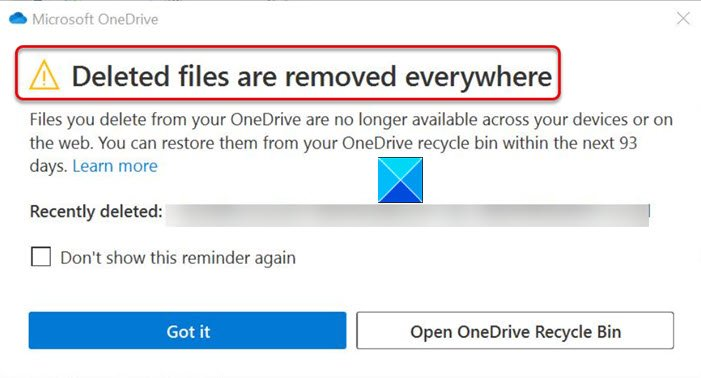 Deleted Files are Removed Everywhere