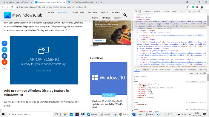 Identify fonts in Firefox and Chrome using Developer Tools