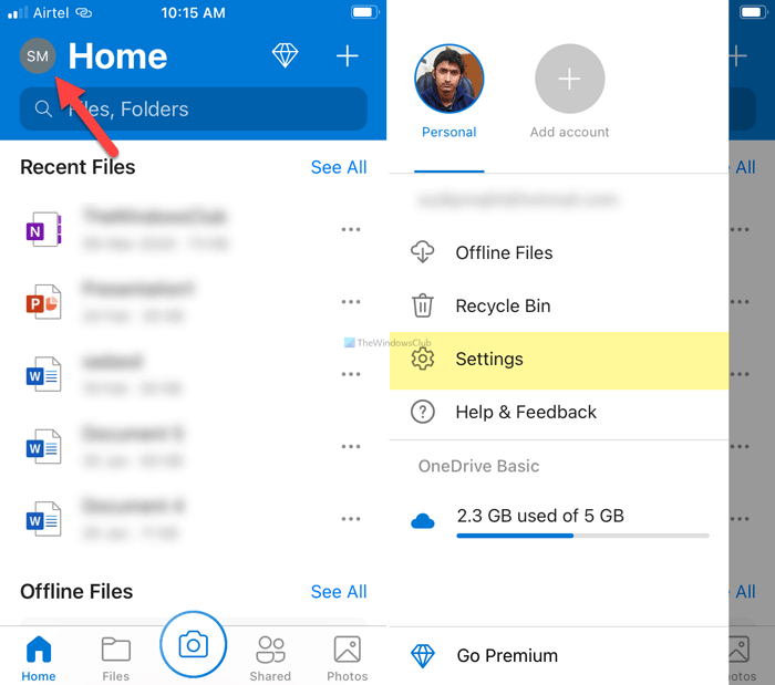 How to disable OneDrive On this day notifications on iOS