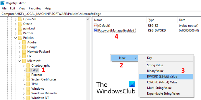 disable save password in edge 2