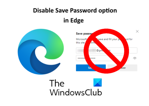 disable save password in edge