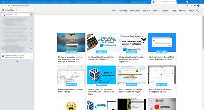 How to get Microsoft Edge vertical tab in Chrome using extensions