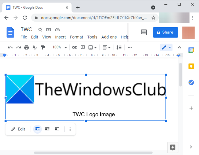 Add Caption to Images In Google Docs