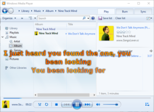 Download and View Lyrics Songs in Windows Media Player