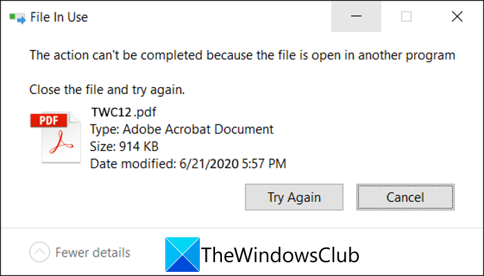 How to tell which process is locking a file in Windows 10