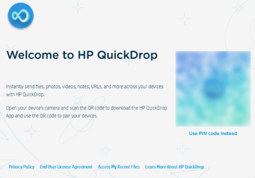 how to use HP QuickDrop