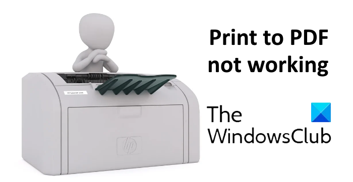 print to pdf not working