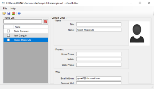 How to view VCF file in Windows 10 PC