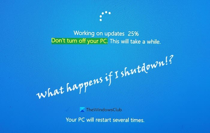 what happens if you shutdown pc during windows update