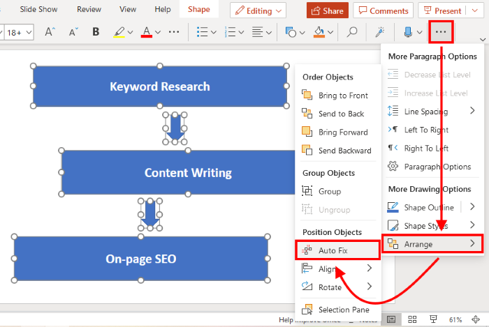 Auto Fix in PowerPoint for Web