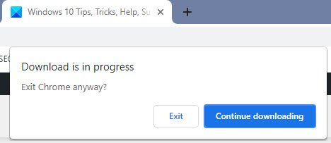 Download is in progress says Chrome; But nothing is downloading