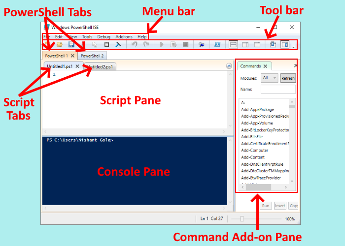 install and use Windows PowerShell ISE