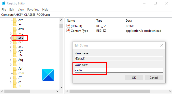 Program exe won't open when you click on it in Windows 10