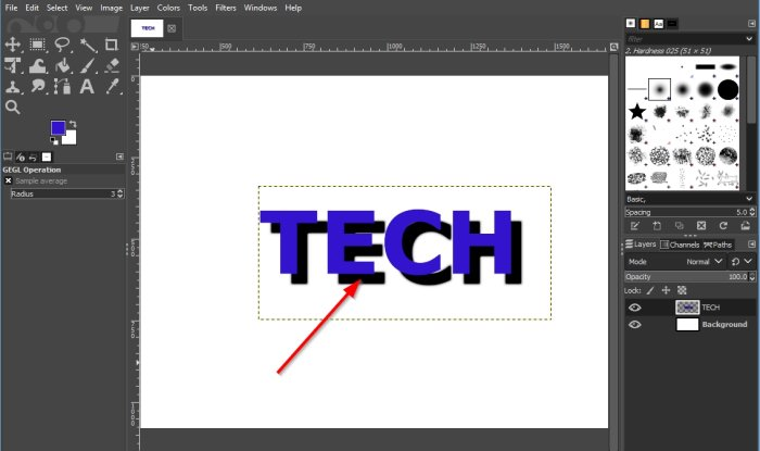 How to add Shadow to Text or Image in GIMP