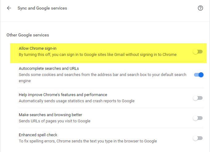 Sign into Google sites without signing into Chrome