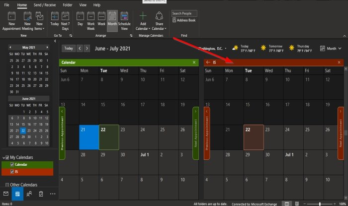 How to change Background Color of Outlook Calendar