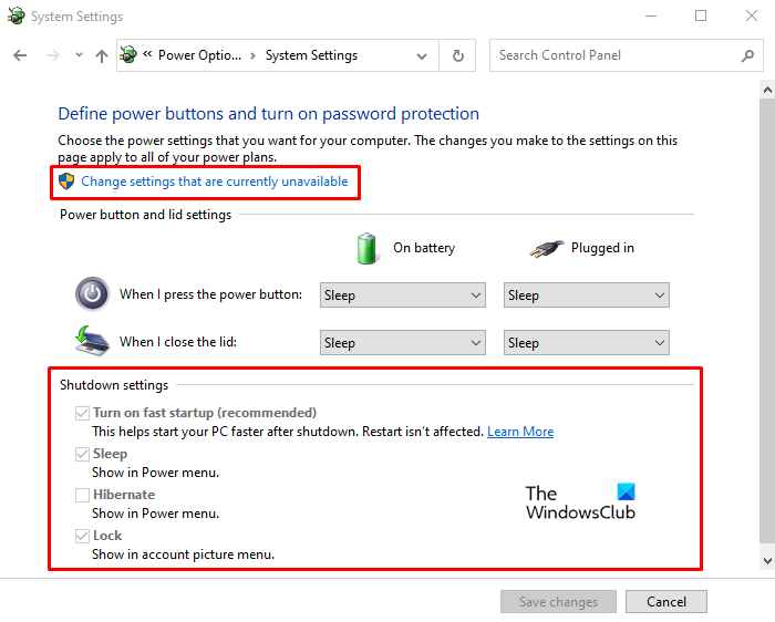 Turn on Fast Startup option missing in Windows 10