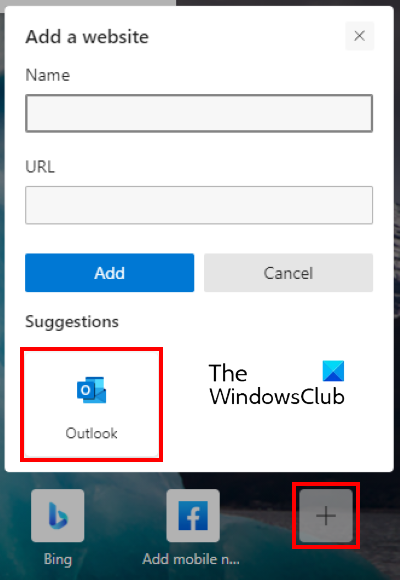 add Outlook Smart Tile to Edge 1