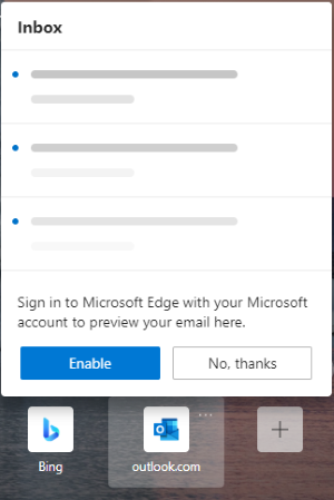 add Outlook Smart Tile to Edge 3