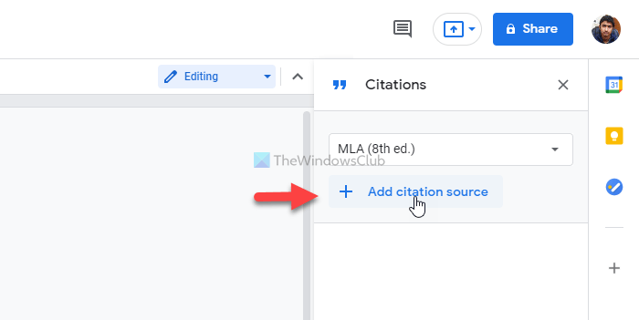 How to add citations and references in Google Docs