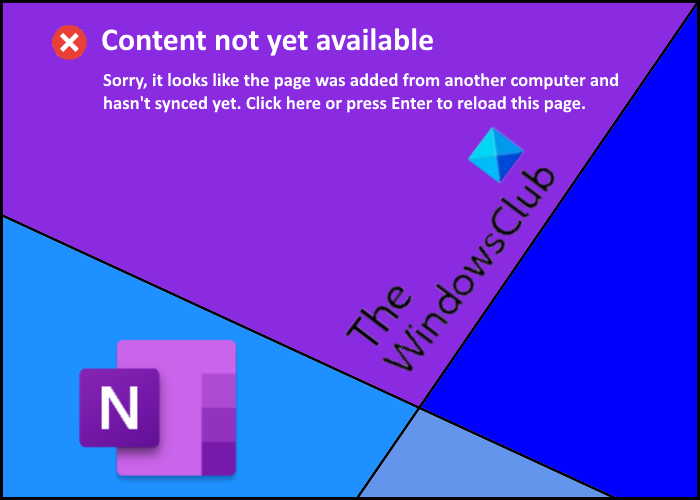 content not yet available onenote error
