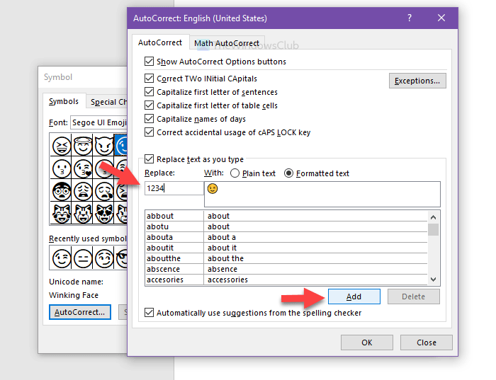 How to create keyboard shortcut for emoji in Office apps