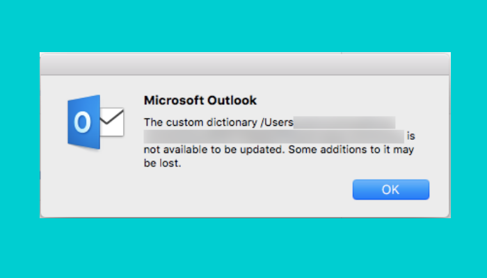 custom dictionary not available in Outlook