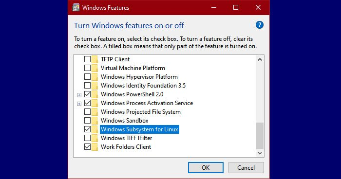 troubleshoot Windows Subsystem for Linux Error Messages and Codes