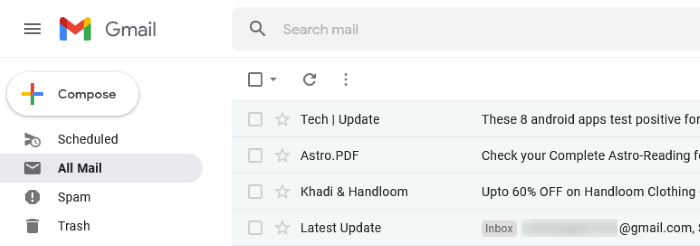 find archive email in Gmail