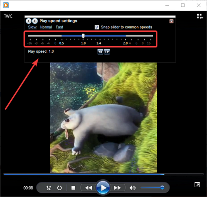 How to Change Video Playback Speed in Windows Media Player
