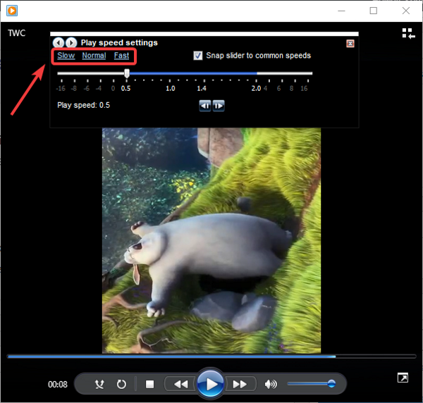 How to change Video Playback Speed in Windows 10