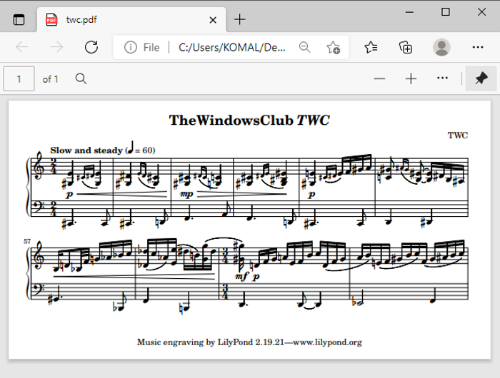 How to Convert Plain Text to Musical Notation PDF in Windows 10