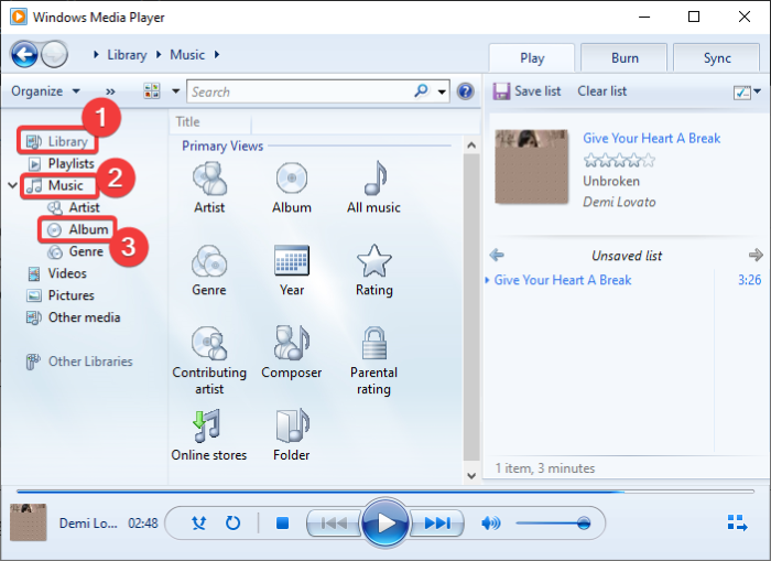 download and add Track Titles in Windows Media Player