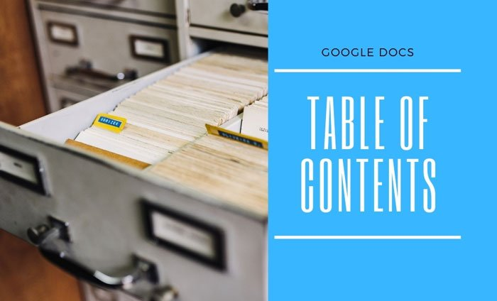 How to insert Table of Contents in Google Docs