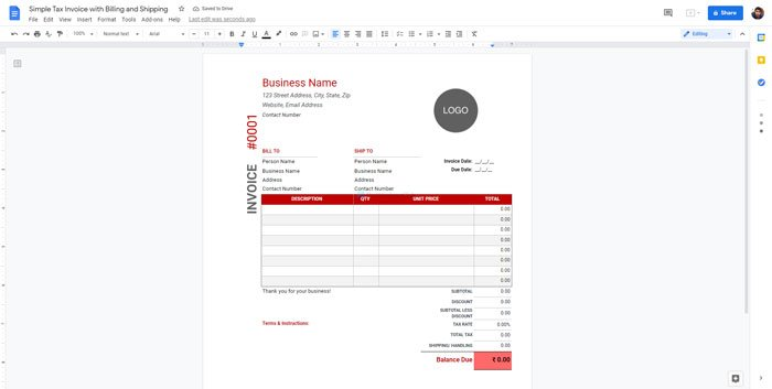 Best invoice templates for Google Docs for freelancers and small business