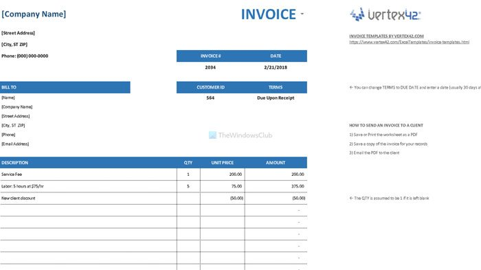 Best Invoice Templates For Google Docs For Freelancers Small Business