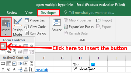 open multiple links from excel 3