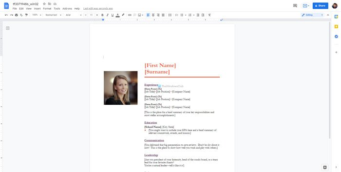 Best resume templates for Google Docs to create professional CV